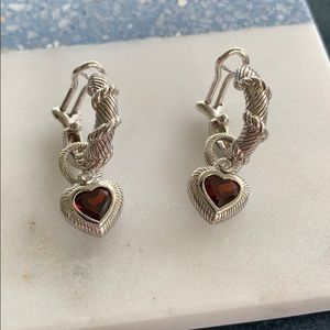 Judith Ripka sterling silver earrings
